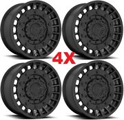 20x10 Fuel Militia Wheels Rims Matte Black D723 Rhino F-150 Method 1500