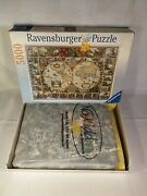 Ravensburger 5000 Pieces Jigsaw Puzzle Historical Map Of The World Complete