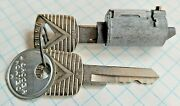 Vintage Oem Hurd Ignition Lock Cylinder And Keys - For Ford Mid 1950s To Mid 1960s