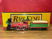 Mth Railking 30-1727-1 The General 4-4-0 Christmas Steam Engine 12 New W/box