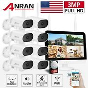 Anran Home Security Camera System Wireless 8ch 13inch Audio 2tb Outdoor Pan Tilt
