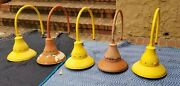Lot Of 5x Vintage Crouse-hinds Explosion Proof Industrial Gas Station Barn Light