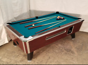 7and039 Valley Commercial Coin-op Pool Table Model Zd-8 New Green Cloth