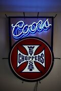 West Coast Choppers California Coors Neon Sign Bar Light Limited Rare Man Cave