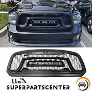 Rebel Style Front Bumper Grille Grill W/amber Light For Dodge Ram 1500 2013-2018