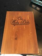 Memorial Edition Holy Bible With Concordance In Wooden Box 3 X 6 X 9 32