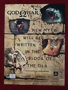 God Of War The Game Xbox Playstation 2004 Ad/poster Art Ad