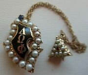 Usa Fraternity Pin Alpha Omega Phi. Made In Gold. Ruby. Marked. 1236