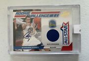 2011 Panini Rookie Challenge Steph Curry Auto 3/25 Rare Game Worn Material