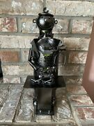 Happy Veterinarian And Patient Dog Recycled Metal Wine Bottle Holder