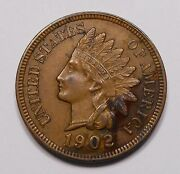 United States 1902 Indian Head Small Cent Ch Au Beautiful High Grade U.s. Penny