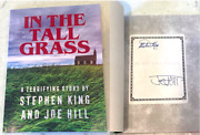 Stephen King And Joe Hill Signed And039in The Tall Grassand039 Novella Book Indie Book Exclu