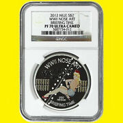 2012 Niue Nose Art Wwii Briefing Time 1 Oz Silver Ngc Pf 70 Ultra Camnot Disney