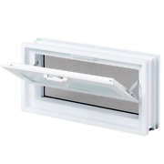 Hopper Vent Glass Block Windows Aluminum Hinges Existing Glass Secure Easy Use
