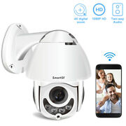 1080p Wireless Security Camera Outdoor Wifi Ptz Dome System 2 Way Audio Pan Cam