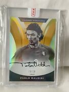 2017 Paolo Maldini Nobility Crescent Signatures Auto Gold. 03/10. Jersey Number