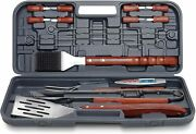 Grilling Traditions Bbq Tool Set 17 Piece Stainless Steel Utensils Thermometer