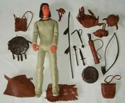 Louis Marx Indian Brave Geronimo 12 Action Figure Doll Accessories Miniatures