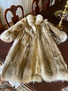 Coyote Fur Coat For Women Size M