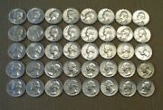 Roll Of Forty 40 1964 Silver Washington Quarters Nice Coins