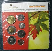 2012 World Money Fair Philadelphia Canadian Coin Set With Special Medal