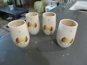 Vintage Vernonware Sherwood Tumblers Drinking Glasses 4 Available Vernon Ware