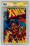 X-men 51 Cgc 8.0 White Pages Signed By Jim Steranko Signature Series Autograph