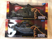 King Kong Storm Strike Monarch Expedition Team Helicopter And Boat Play Sets