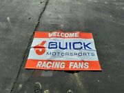 Vintage Nascar Buick Grand National 6 Welcome Race Fans Banner Sign 33 X 57