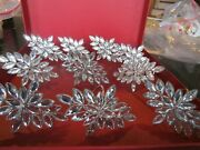 10 Sparkle Clear Silver Color Stones Napkin Rings New Wo Tag