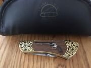 Franklin Mint Colt Single Action Army Peacemaker Folding Knife With Soft Case