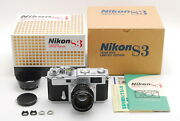 [top Mint]nikon S3 Year 2000 Limited Edition W/nikkor-s 50mm F/1.4 Lens Box 6867