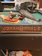 Jonah And The Whale Cast Iron Mechanical Bank 1890, Book Of Knowledge Replica