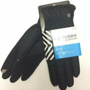 Impressions By Isotoner Active Smartouch Technology Gloves Women's Black