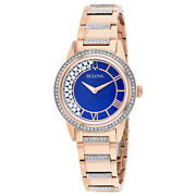 Bulova Womenand039s Turnstyle Blue Mother Of Pearl Dial Watch - 98l247