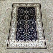 Yilong 2.5and039x4and039 Handknotted Silk Carpet Living Room Floor Area Rug H179b