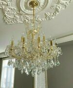 Sale💡large Pair Stunning Hollywood Regency Style Chandeliers 💡18 Lights Each💡