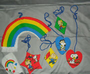 Vintage Peanuts Snoopy Crib Wall Mobile Cut And Sew Fabric Crafts 4 Sets