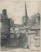 Frank Lewis Emanuel 1865-1948 Pencil Drawing Bakewell Church - 20th Century
