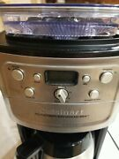 Cuisinart 12 Cup Grind And Brew Coffee Maker Dgb-900bc Brushed Chrome