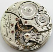 Pocket Watch Movement 16s Illinois Bunn Special 21 Jewels 6 Adj. For Parts .. Of