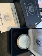 2002 Proof American Silver Eagle 1oz. .999 Silver Dollar With Box And Coa