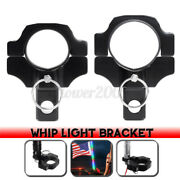 2inch Led Utv Flag Pole Whip Holder Clamp Bracket Mount Aluminum Flagpole Ligh