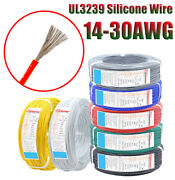 Ul3239 18awg Silicone Rubber Wire Cable 200℃ 3000v Tinned Copper