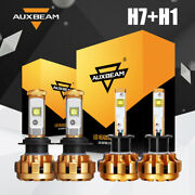 Auxbeam H1+h7 Led Combo Headlight Kit 120w 12000lm Light Bulbs High And Low Beam