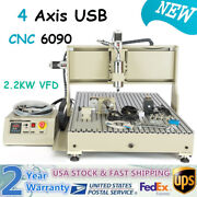 Usb 4 Axis 2200w Vfd 6090 Cnc Router 3d Engraver Engraving Drill Milling Machine