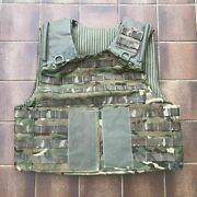 British Army Osprey Mtp Molle Vest Plate Carrier With Ammo Pouch Xl Plus Mv15