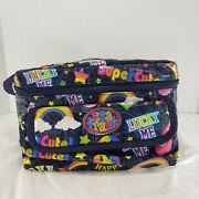 Lisa Frank Vintage Rare Collectible Puffy Lunch Bag Box Denim Lucky Smiley Face