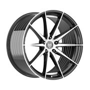 4 Hp4 20 Inch Staggered Black Rims Fits Hyundai Genesis Coupe 3
