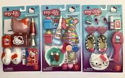 My Life As Hello Kitty Doll Room, Party, On The Go Playset Set 3 Play Sets New